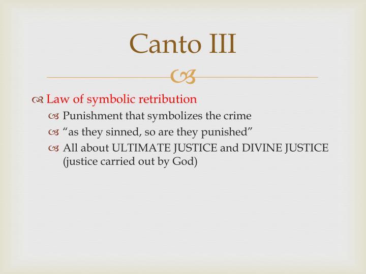 Canto III