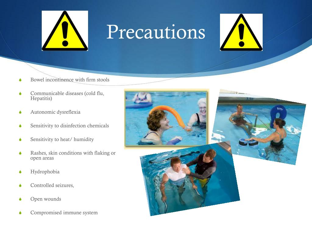 aquatic therapy sclerosis multiple ms powerpoint ppt presentation precautions