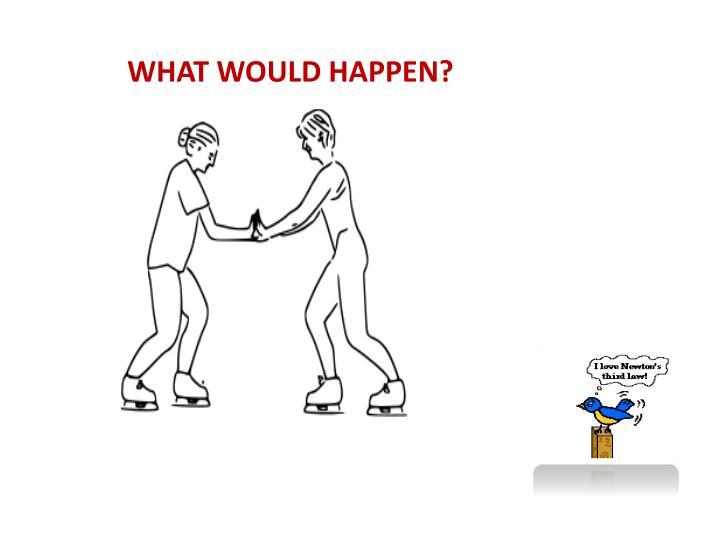 WHAT WOULD HAPPEN?