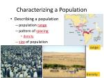 characterizing a population