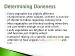 determining doneness