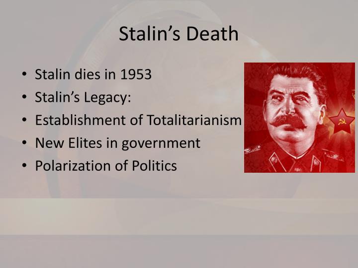 Stalin s death