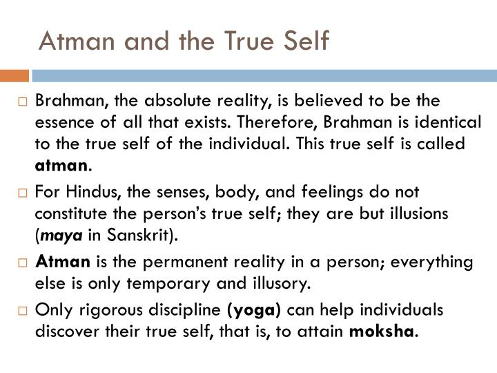 Atman and the True Self