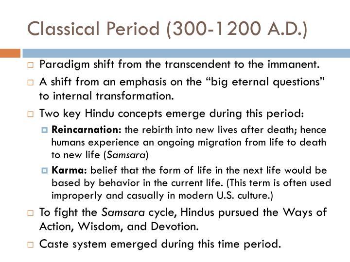 Classical Period (300-1200 A.D.)