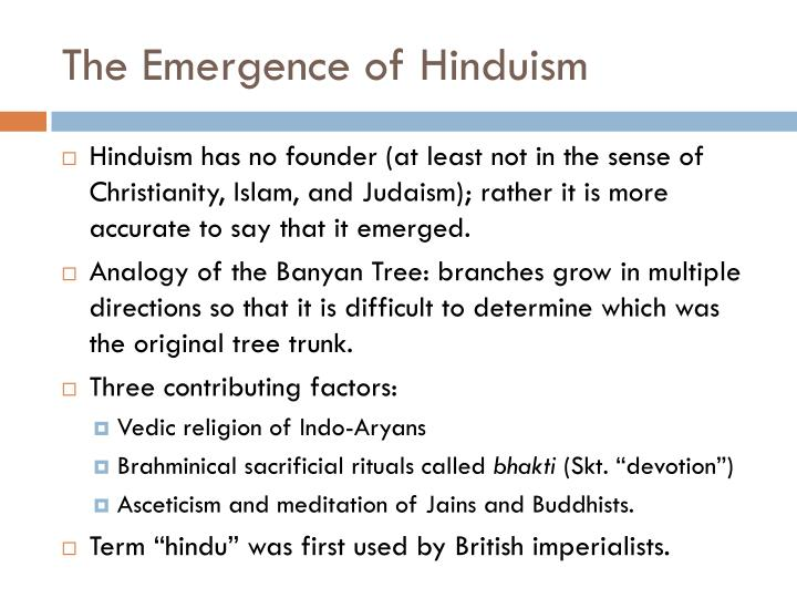 The Emergence of Hinduism