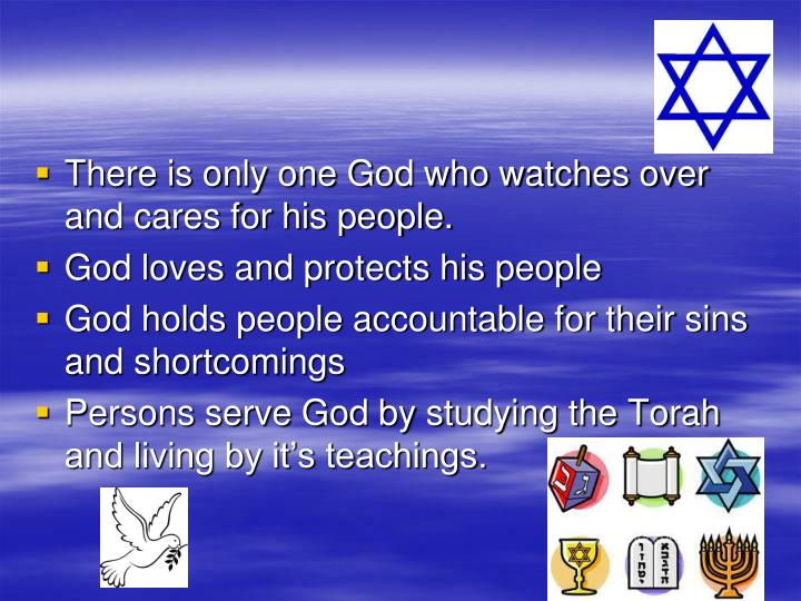 There is only one God who watches over and cares for his people.