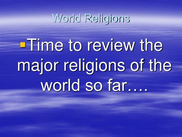World religions1