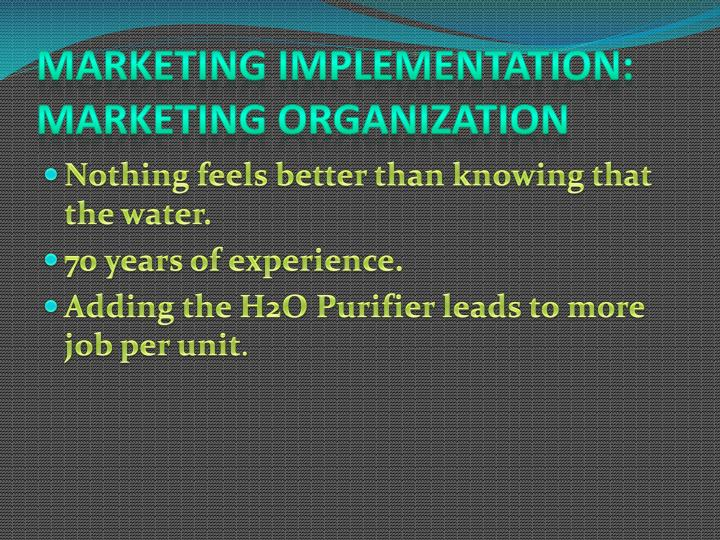 Marketing Implementation: