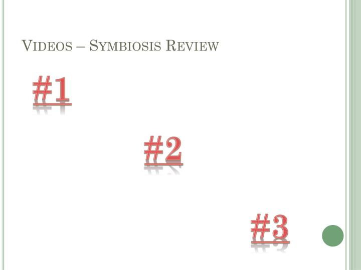 Videos – Symbiosis Review