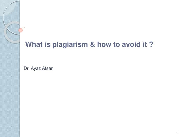 an introduction to plagiarism Plagiarism is a term that describes the unacknowledged use of someone's work in many cases, students who find themselves accused of plagiarising often have done so unintentionally.