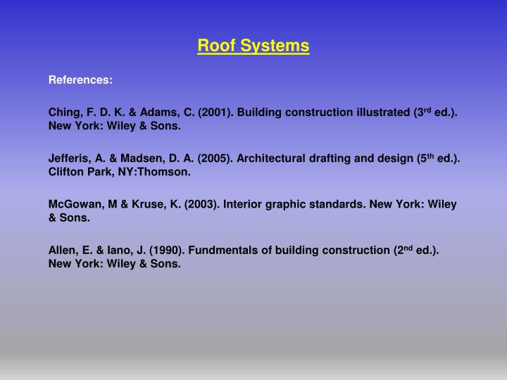 roof systems n.
