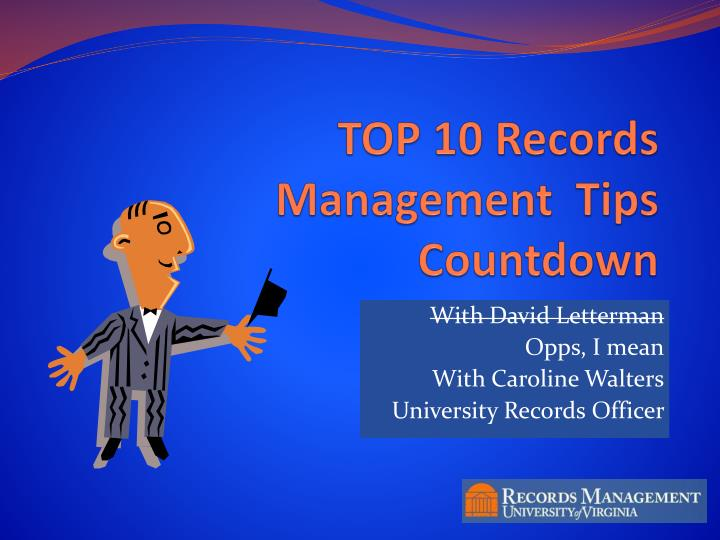 top 10 records management tips countdown n.