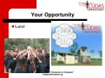 your opportunity