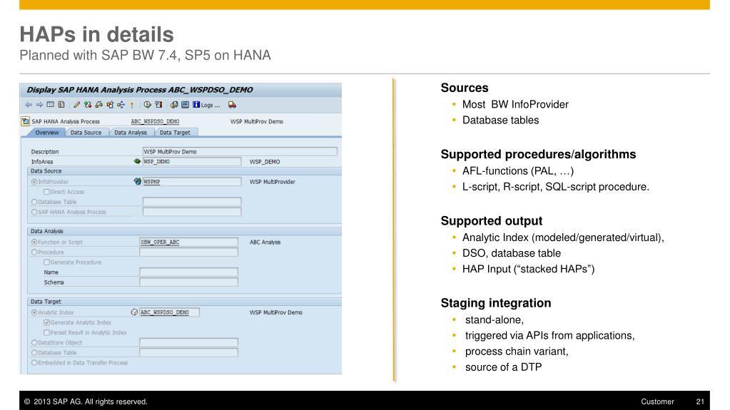 PPT - Nouveautés BW 7 4 on HANA PowerPoint Presentation - ID:1896400
