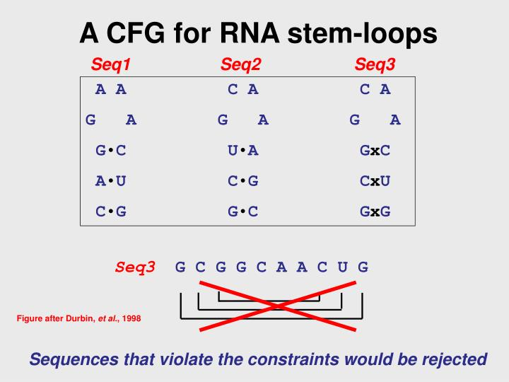 A CFG for RNA stem-loops