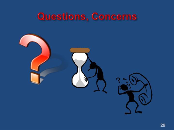 Questions, Concerns