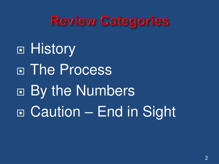 Review categories