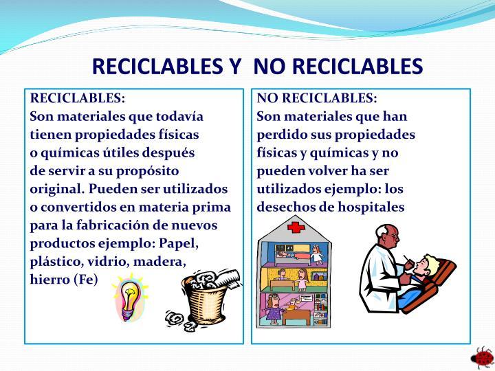 RECICLABLES Y