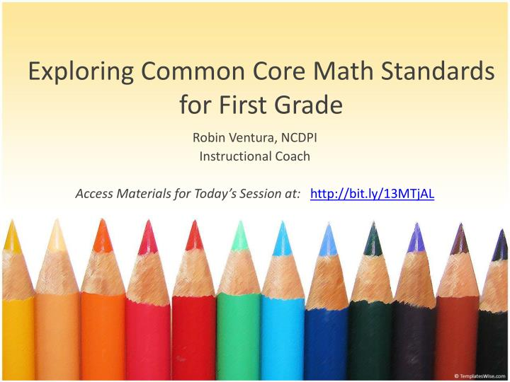 exploring common core math standards for first grade n.