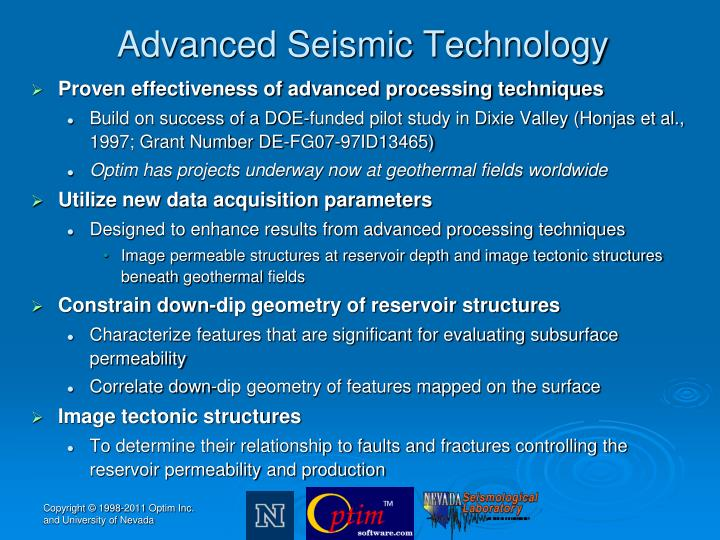 Advanced Seismic Technology