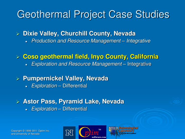 Geothermal Project Case Studies