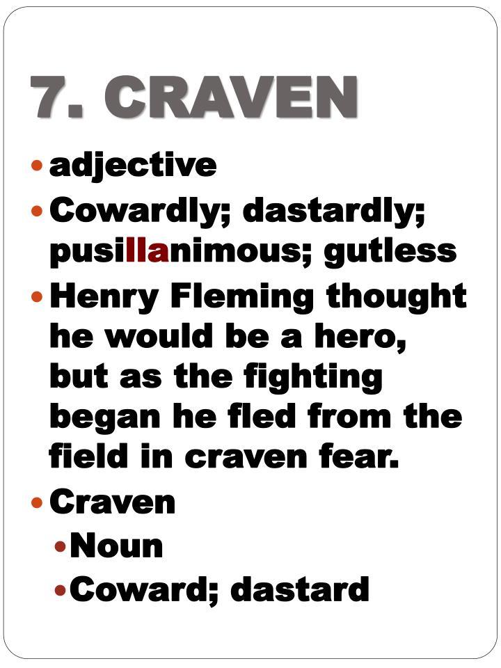 7. CRAVEN