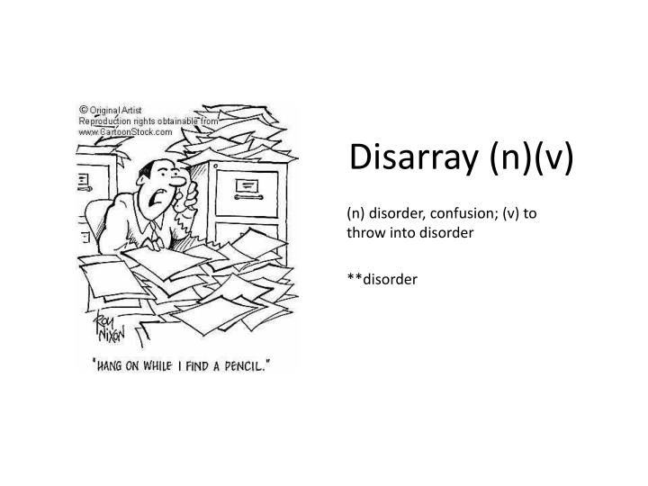 Disarray (n)(v)