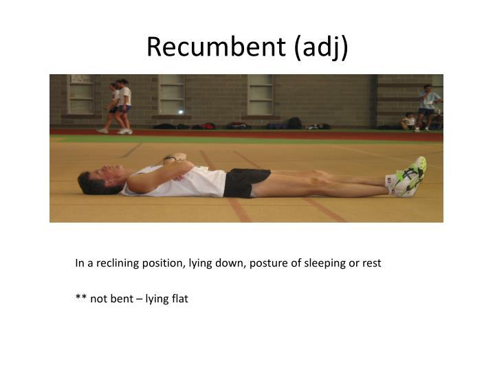 Recumbent (
