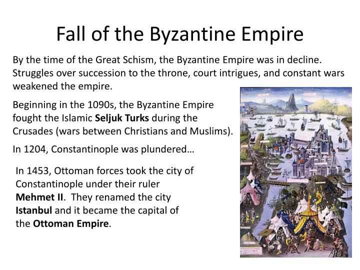 Fall of the Byzantine Empire
