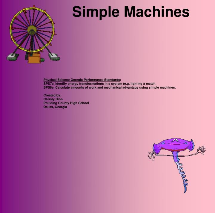 essay on working of simple machines