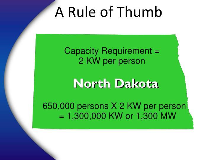 A Rule of Thumb