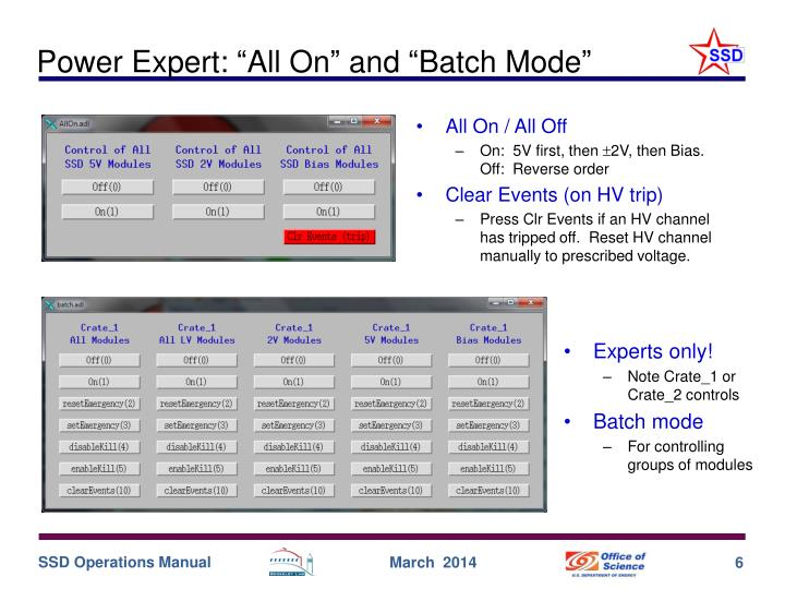 """Power Expert: """"All On"""" and """"Batch Mode"""""""