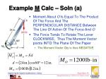 example m calc soln a