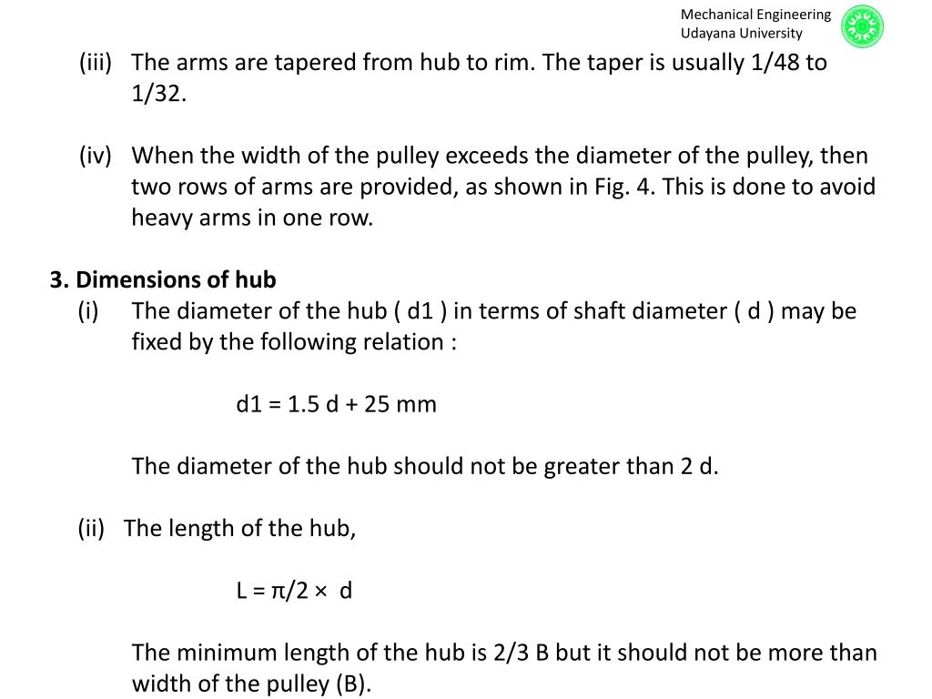 PPT - Flat Belt Pulleys PowerPoint Presentation - ID:1897342