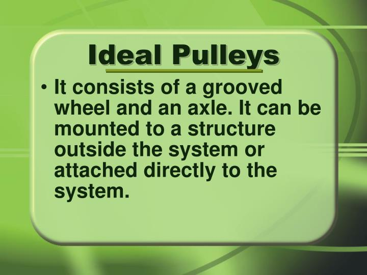 Ideal Pulleys