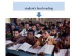 student s loud reading