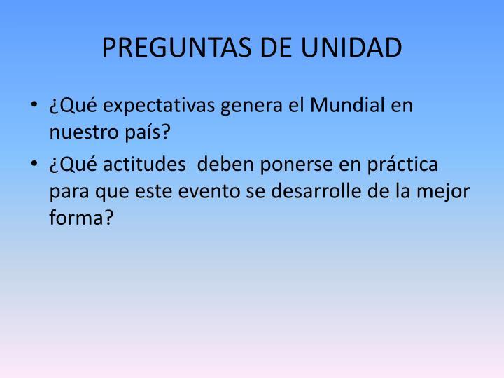 PREGUNTAS DE UNIDAD