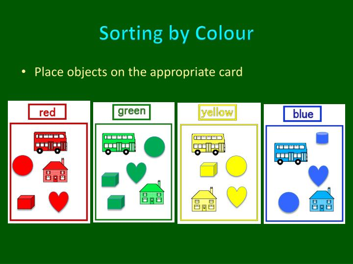 Sorting by colour