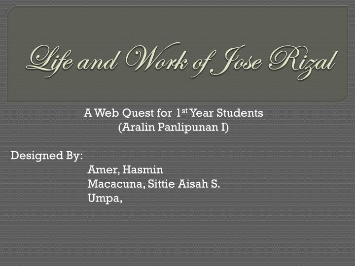 Ppt life and work of jose rizal powerpoint presentation id1898324 life and work of jose rizal toneelgroepblik Gallery