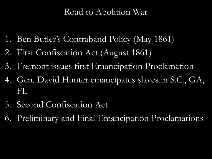 Road to Abolition War