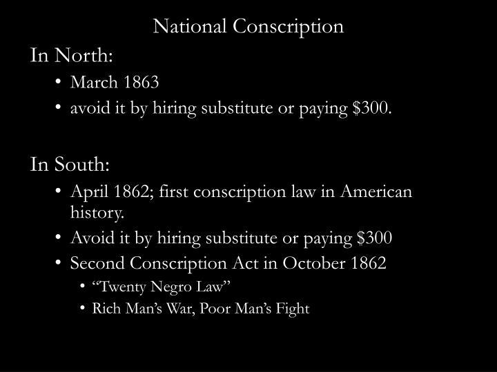 National Conscription