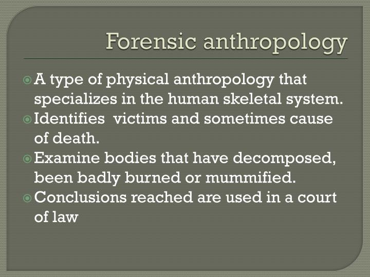 forensic anthropology term papers Term papers 1901 words | (54 pages) | preview aspirations to be a top forensic scientist - my career goal is to aspire to become one of the top forensic scientist in the country, and eventually become an international baccalaureate chemistry teacher.