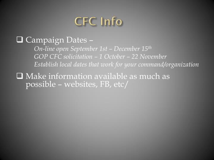 CFC Info