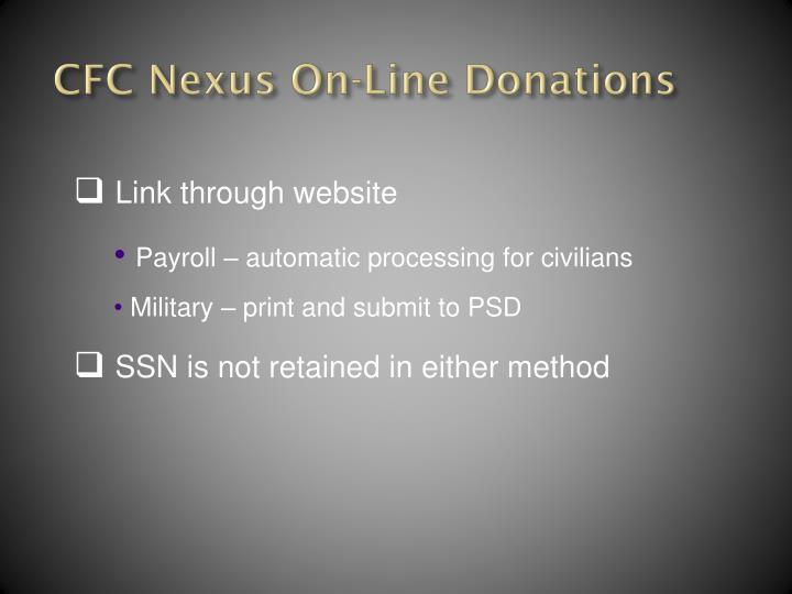 CFC Nexus On-Line