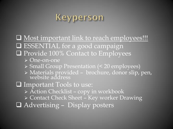 Keyperson