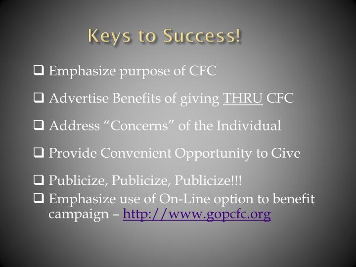 Keys to Success!