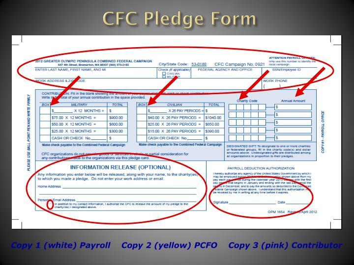 CFC Pledge Form