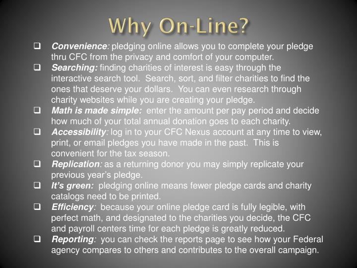 Why On-Line?