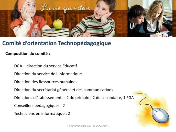 Comité d'orientation Technopédagogique