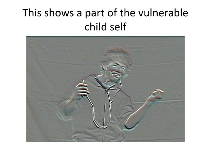 This shows a part of the vulnerable child self